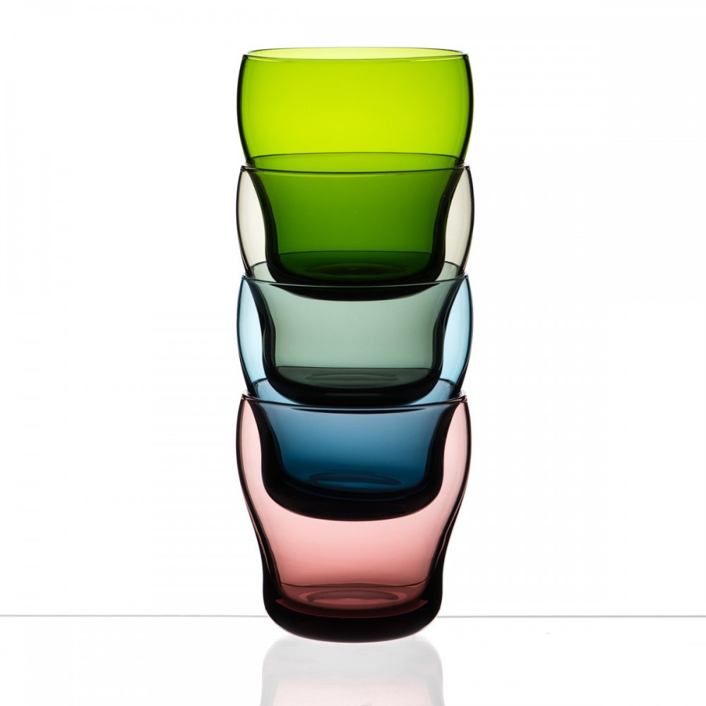 packshot verre coloré