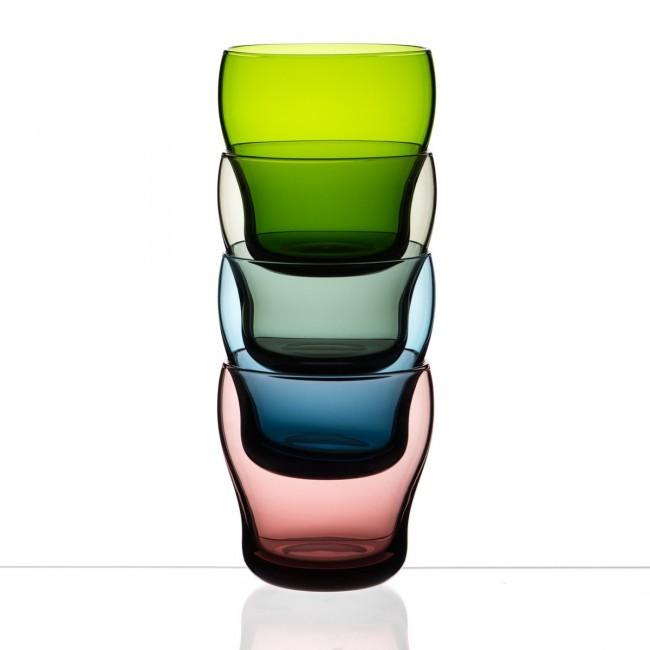 packshot verre coloré