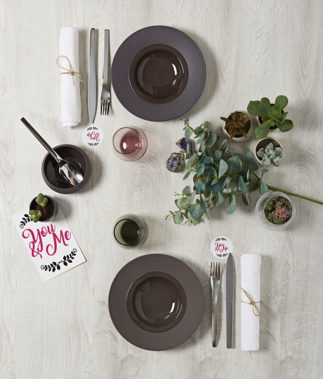 table amour saint valentin
