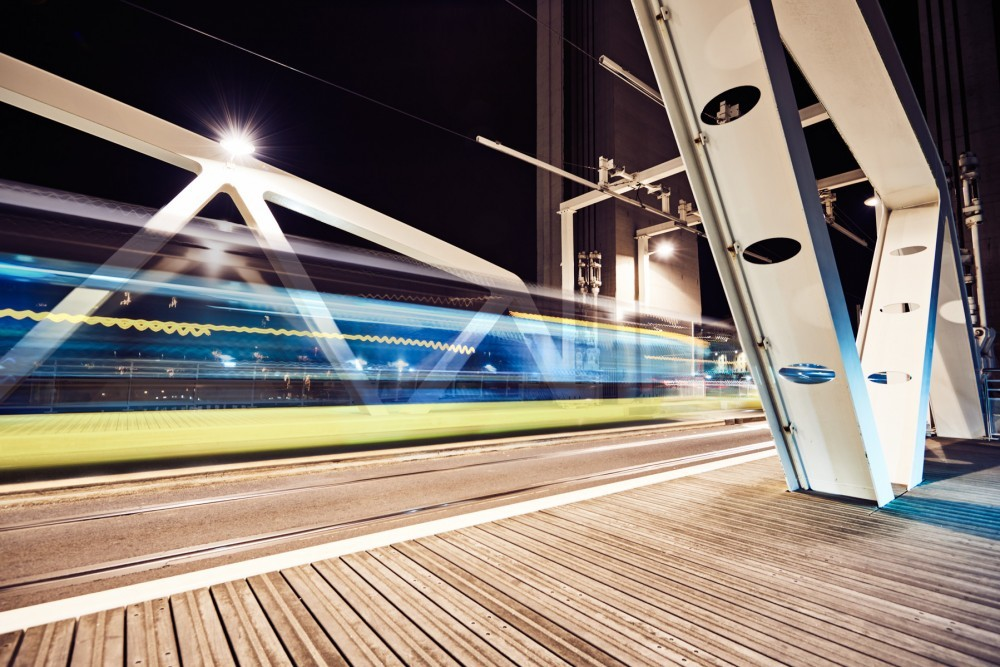 photomontage du pont de Recouvrance à Brest