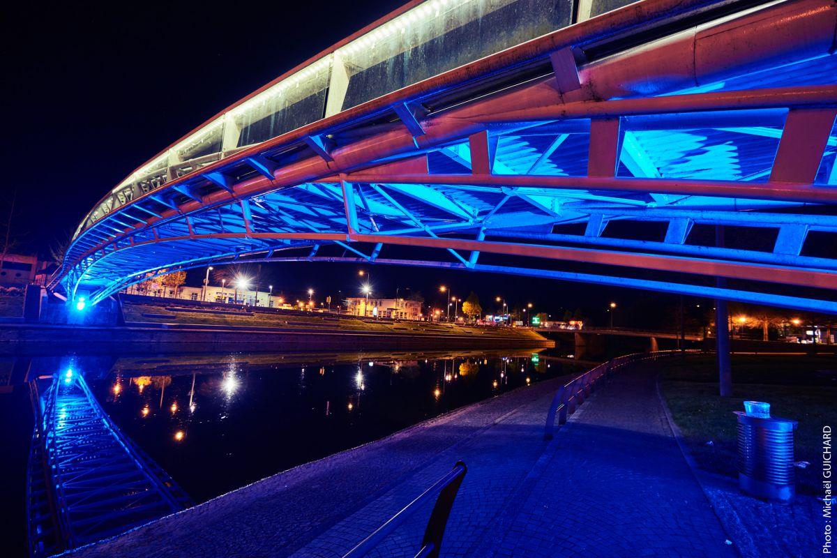 pont de nuit architecture urbaine